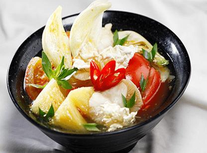 Món chay : Canh chua bông so đũa .