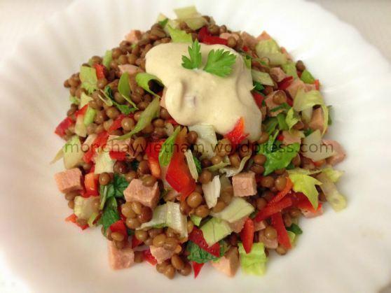 mon chay ngon miệng: Salad đậu lenti