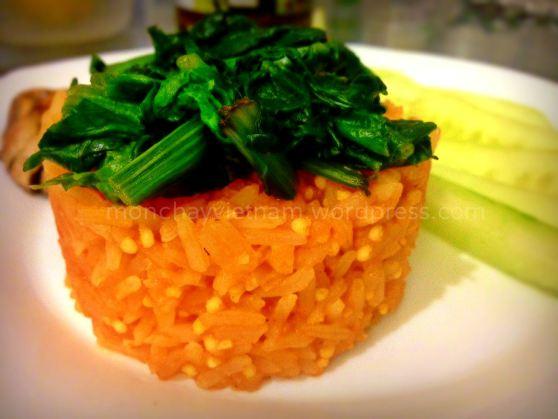 mon chay : Cơm nấu sốt cà chua (kiểu Mêhicô)