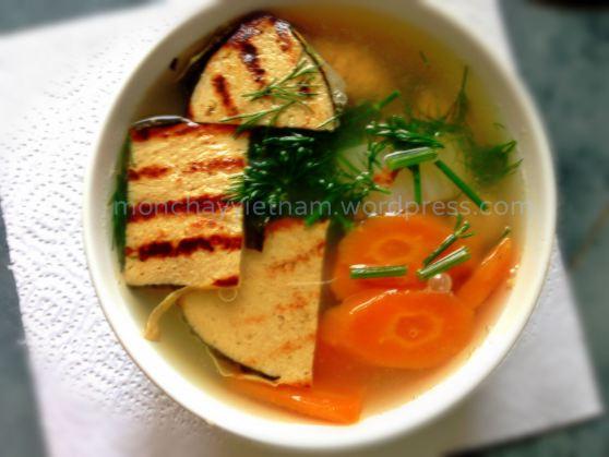 Bún cá cải thảo cà rốt thuần chay