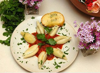 Ăn chay với mì con sò dồn rau dền