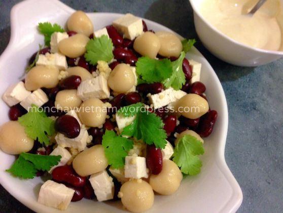 Món chay : Salad đậu đỏ hạt kê và trân châu