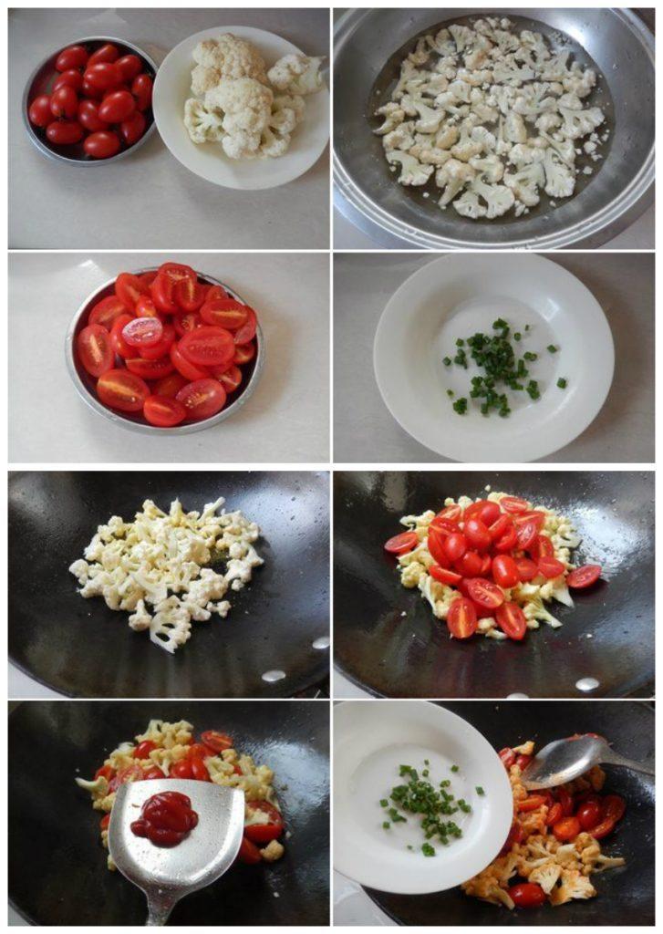 sup lo xao ca chua 1 727x1024 Cách làm súp lơ xào cà chua cho người ăn chay đơn giản