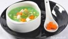 Sup com xanh rau cu