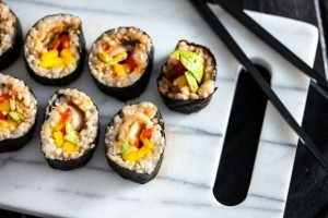 mon an chay sushi duoc nhieu nguoi yeu thich
