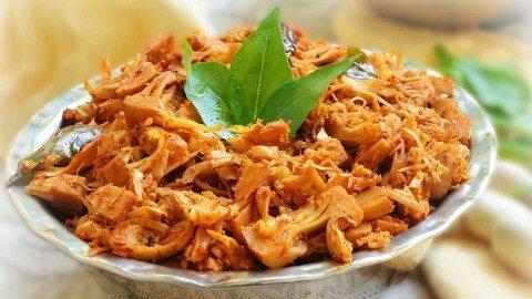 Món chay: Mít non xào sả ớt thơm cay